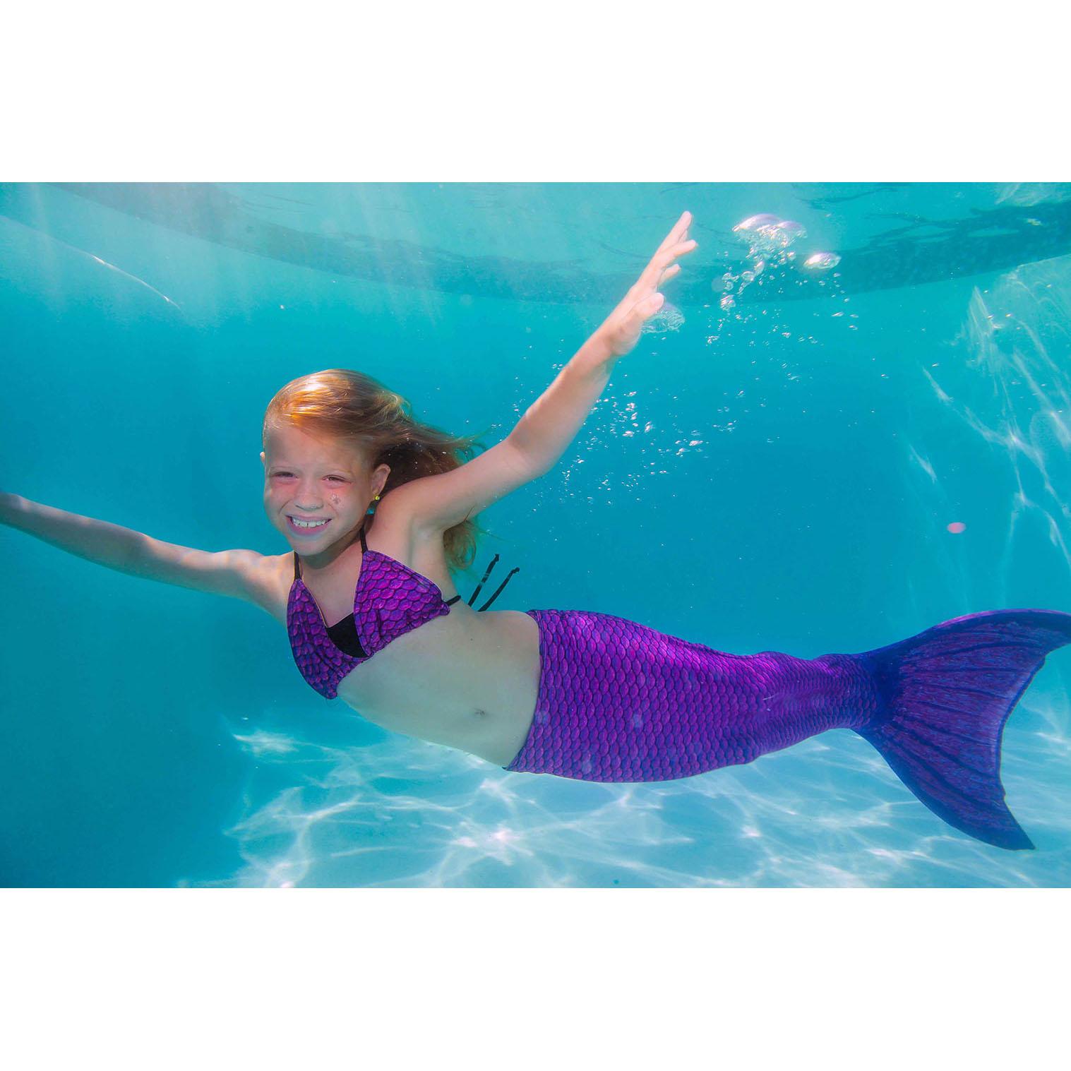 Kid Size Mermaid Tails for Swimming, Swimmable- Fin Fun ...  Kid Size Mermai...
