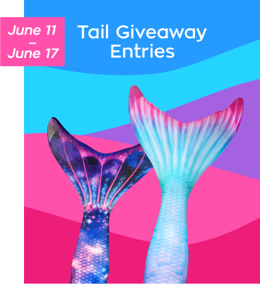 mermaid tail giveaways