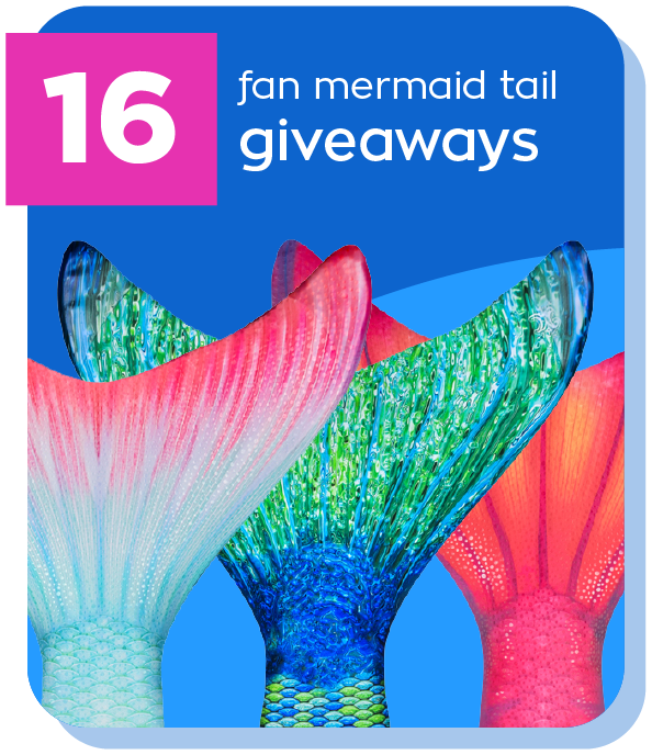mermaid tail giveaways