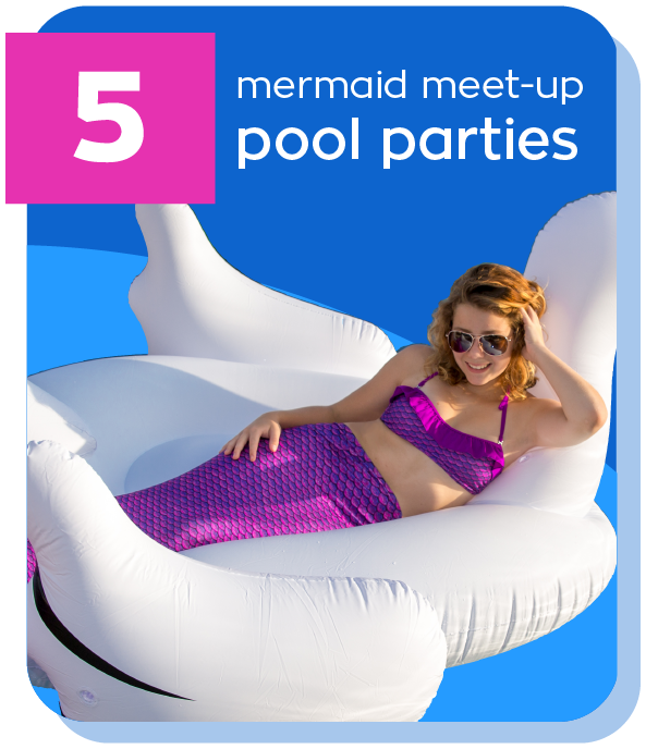 mermaid pool parties