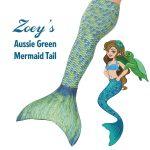 teal mermaid tail