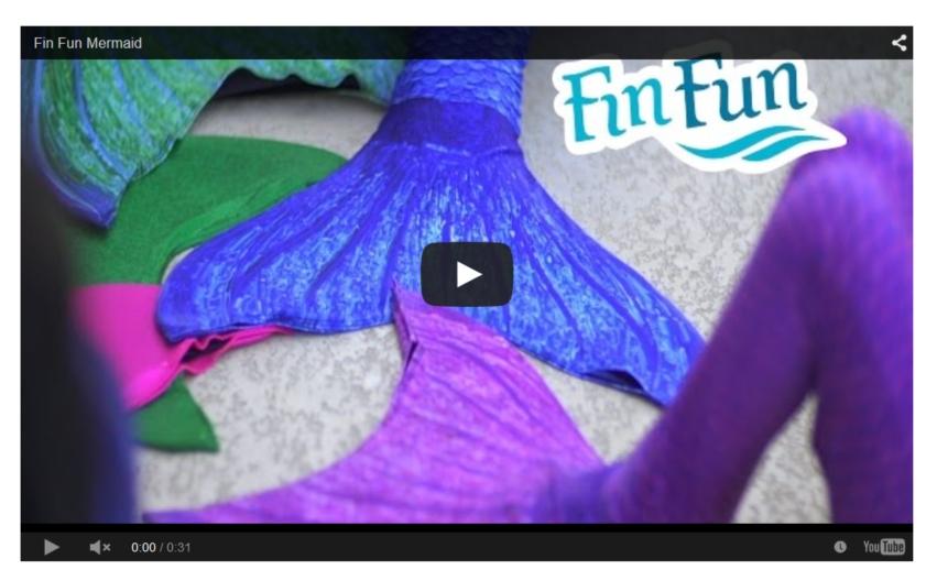 mermaid tail video