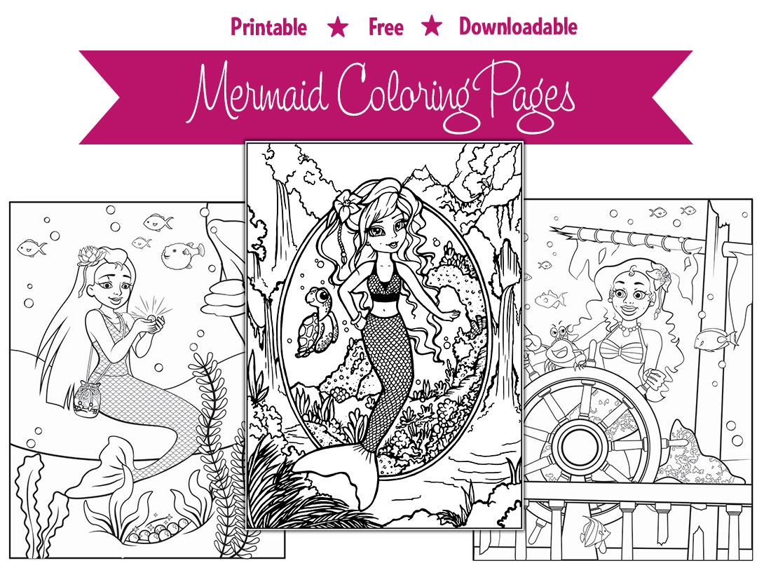 Free Printable Mermaid Coloring Page Serena