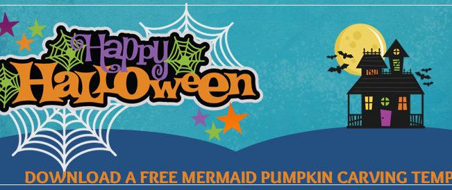 Mermaid Pumpkin Carving Template
