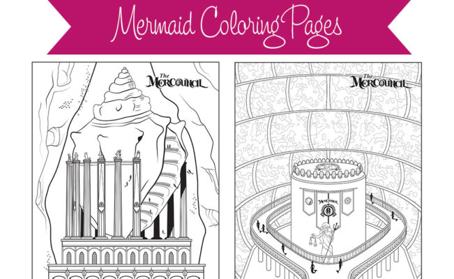 Mermaid Coloring Page – Color the MerCouncil