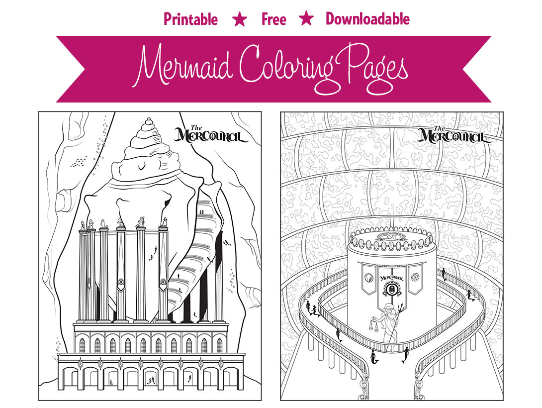 Mermaid Coloring Pages - Download and Print Free
