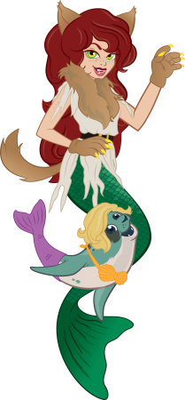 Werewolf Brynn and Mermaid Fergus!