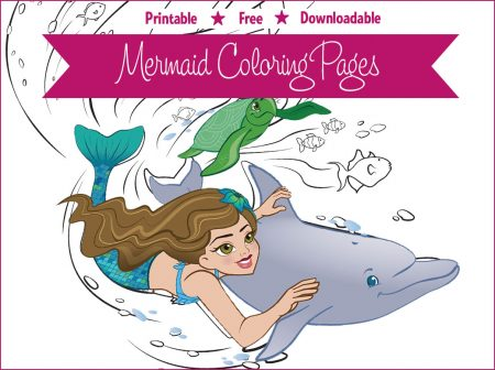 Mermaid Coloring Page - Zoey & Cooper