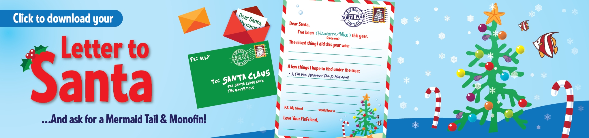 Printable Letter To Santa  Finfriends