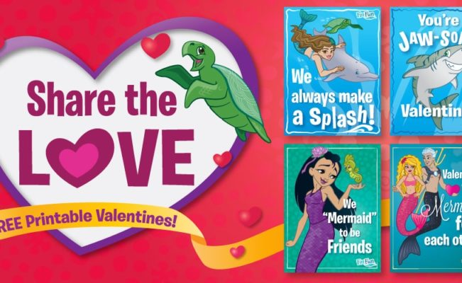 Printable Mermaid Valentines