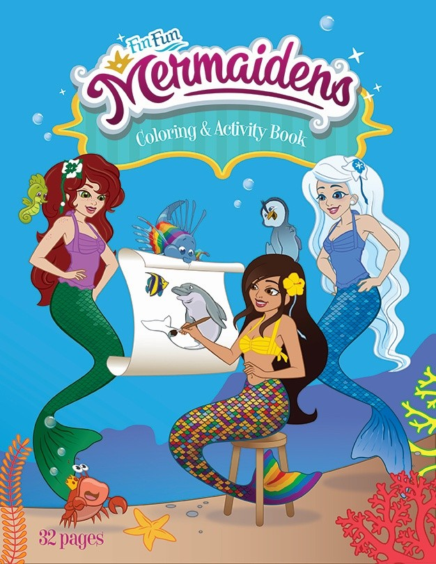 Mermaidens Coloring Book