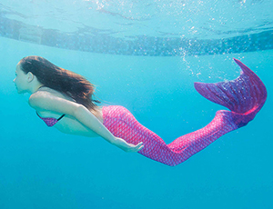 Waverlee's Malibu Pink Mermaid Tail