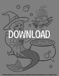 Fin fun coloring pages ~ Halloween Mermaidens Coloring Pages | FinFriends