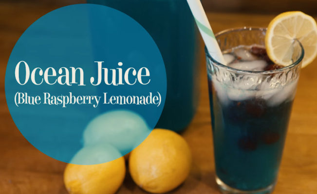 "DIY Mermaid Ocean Juice – ""Blue Raspberry Lemonade"""