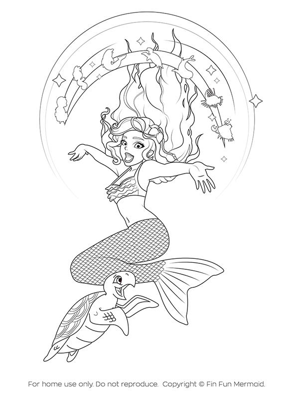 Mermaid Coloring Page Mermaiden