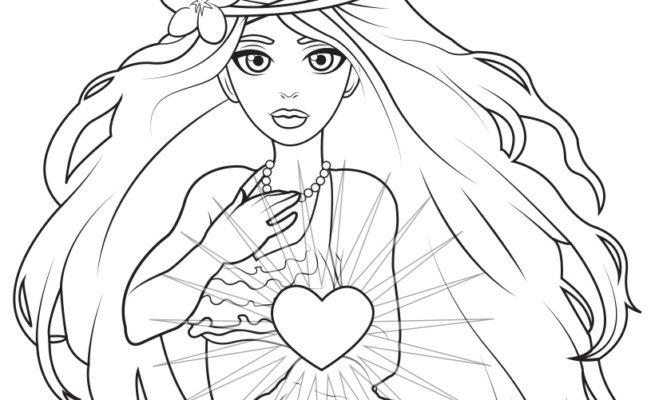 Mariana Coloring Page