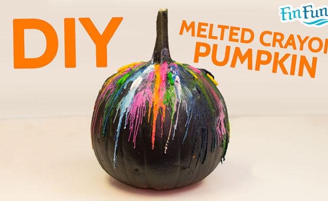 DIY Melted Crayon Halloween Pumpkin