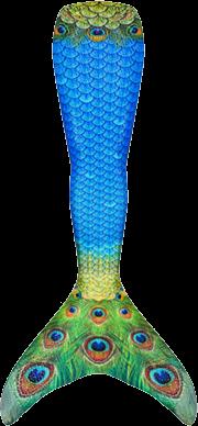 Sapphire Peacock Mermaid Tail