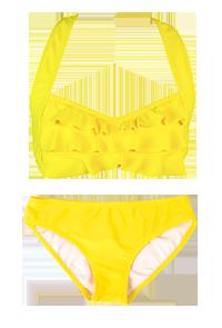 746be955b6 Yellow Sea Wave Bikini Set