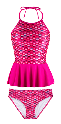 ef2984286a87d New Malibu Pink Peplum Tankini Set | FinFriends