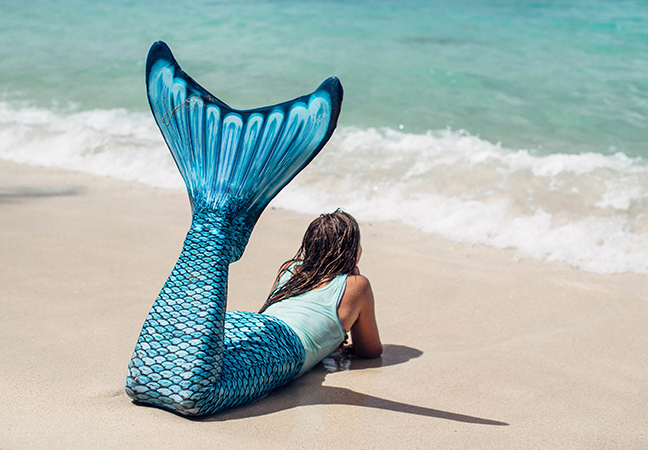 Tidal Teal Mermaid Tail