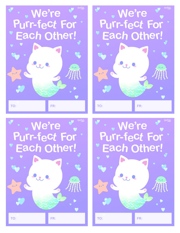 Were Purrfect For Each Other Valentines