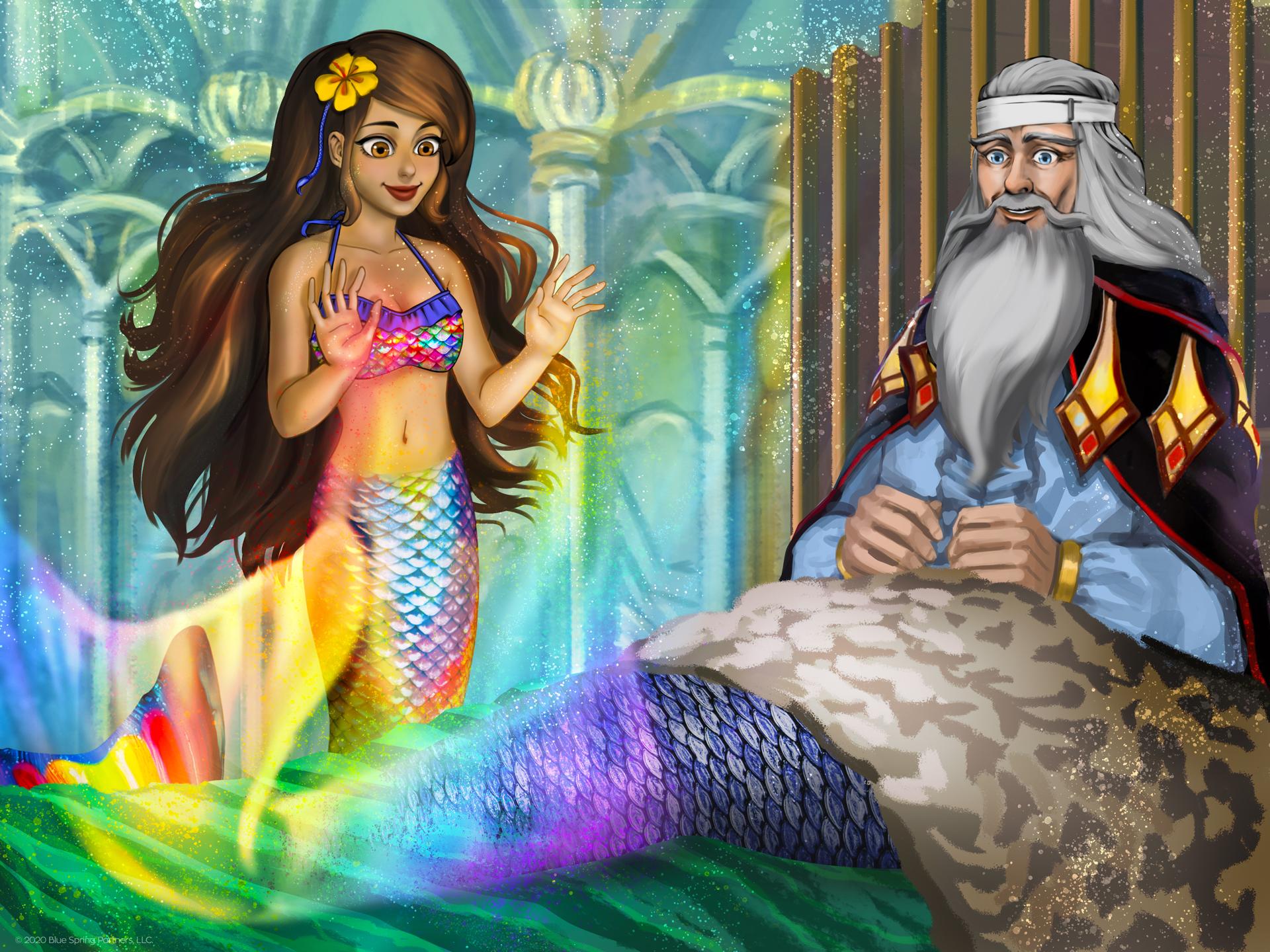 Mermaiden Serena demonstrates her power on Chancellor Darek