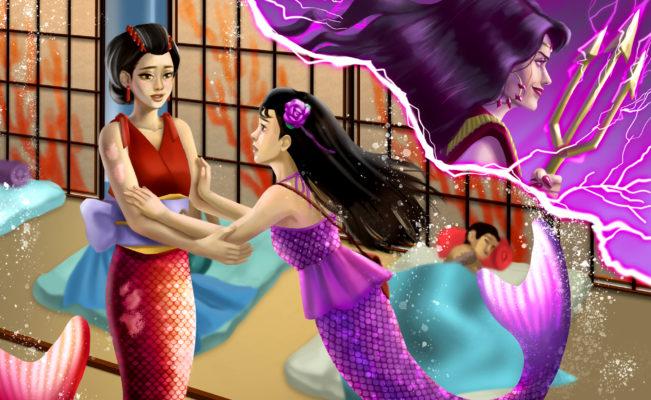 Speed Paint – Jia Hurries Home   Mermaiden Tales